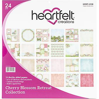 "Heartfelt Creations Double-Sided Paper Pad 12""X12"" 24/Pkg-Cherry Blossom Retreat"