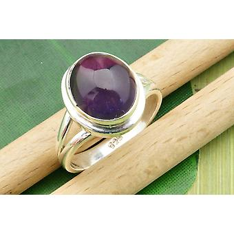 Amethyst ring 925 Zilver Sterling Zilver vrouwen ring paars (MRI 19-01)