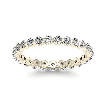 Igi certifierad 1,00 ct diamant kvinnor & apos; evighet band i 14k gult guld
