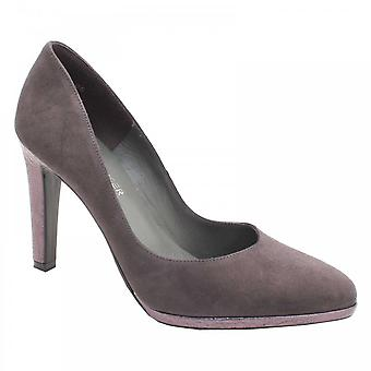 Peter Kaiser Herdi Grey Suede Platform Court Shoe