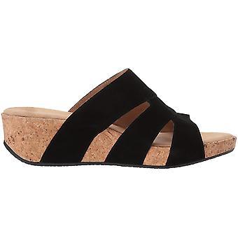 ADRIENNE VITTADINI Schuhe Damen's Daytona Keil Sandale, Schwarz-Sd, 9,5 Mediu...