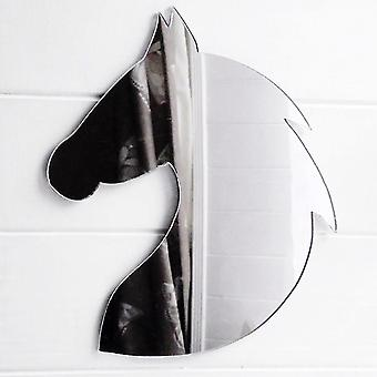 Rounded Horse Head With Mane Acrylic Mirror