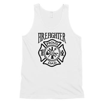 Firefighter Dad Mens White Friendly Cool Cute Sleeveless Top Gift