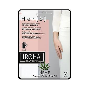 Iroha Cannabis Hand & Nail Mask Glove Repairing & Relaxing For Women