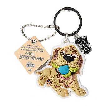 Wags & Whiskers Keyring - Golden Retriever