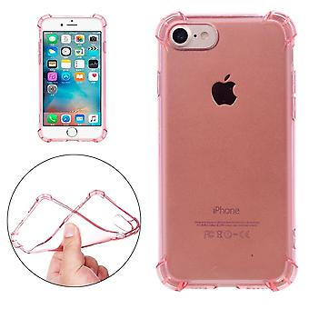 Für iPhone SE (2020), 8 & 7 Fall, modish Transparent Kissen Grippy Abschirmung Abdeckung, Rose Gold