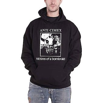 Anti Cimex hoodie ofre for et Bombraid logo ny officiel Herre sort pullover