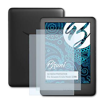 Bruni 2x Screen Protector kompatybilny z folią ochronną Amazon Kindle Model 2019