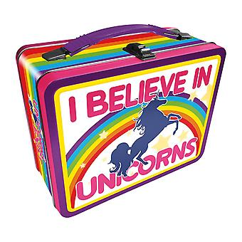 I believe in unicorns tin carry all fun box