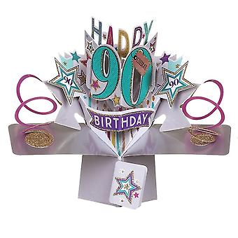 Second Nature Pop Up Stars 3d 90th Birthday Card Pop166