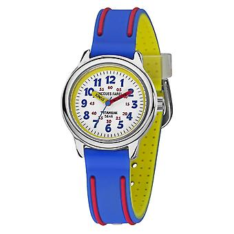 JACQUES FAREL Kids Wristwatch Analog Quartz Boys Titanium Silicone KTI 5555