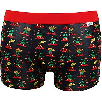 Happy Socks Volcano Boxer Trunk, Navy