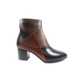 Canal Grande Polly Brown Leather Womens Heeled Ankle Boots