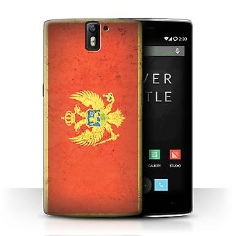 STUFF4 Case/Cover for OnePlus One/Montenegro/Montenegrin/European Flag