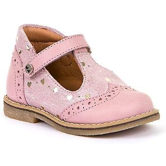 Froddo Girls G2140044-1 T-bar Shoes Pale Pink