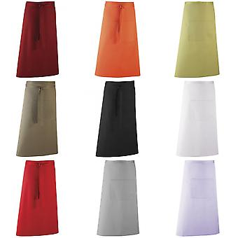 Premier Unisex Colours Bar Apron / Workwear (Long Continental Style)