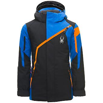 Spyder CHALLENGER kids ski jacket - black / blue