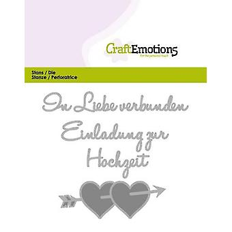 CraftEmotions Die Tekst - In Liebe verbunden (DE) Kaart 11x9cm