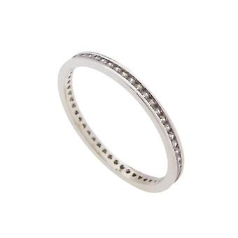 14 carat white gold ring with zirconia