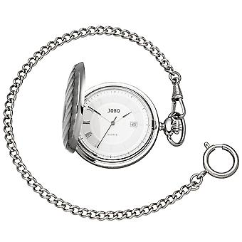 JOBO Pocket Watch Quartz Analogique ChromeD Date Jump Lid