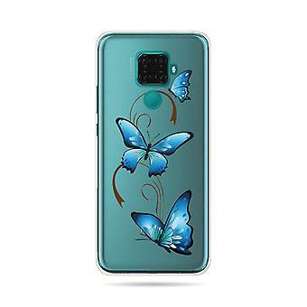 Rumpf für Huawei Mate 30 Lite soft Butterfly Auf Arabesque