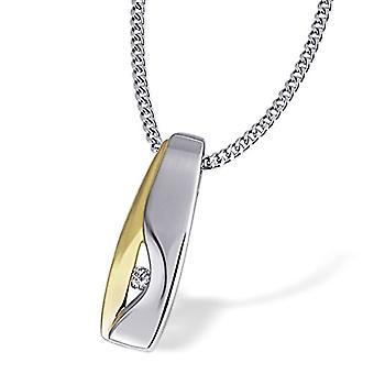 Goldmaid Silver Silver Necklace Oxidized Brilliant Diamond 6 millimeters