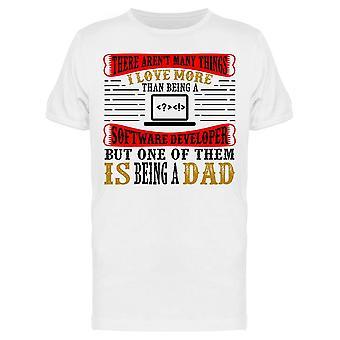 Ohjelmistokehittäjä Dad Quote Tee Men's -Image Shutterstock