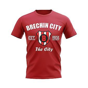 Brechin City etablert fotball T-skjorte (rød)