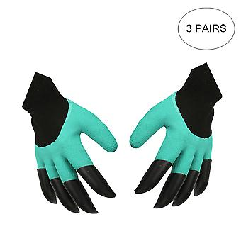 3 pairs of latex gloves, waterproof safety gloves
