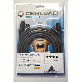 Oehlbach NF 14 Master X 200 Audio XLR Kabel Anthrazit 2 Meter 2 Stück Neu