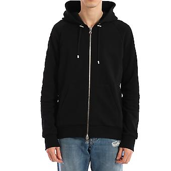 Balmain Th13122i2400pa Men's Black Cotton Sweatshirt