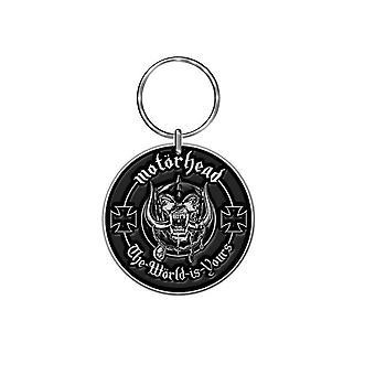Motorhead Keyring Keychain lemmy The World Is Yours logo de groupe nouveau fonctionnaire