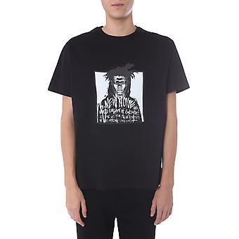 Neil Barrett Pbjt669sn521s524 Men's Black Cotton T-shirt