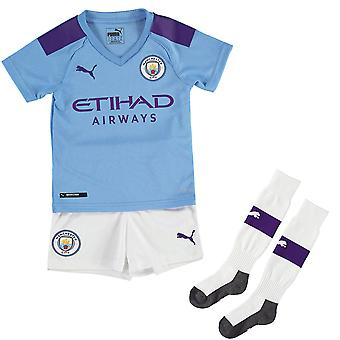Puma Manchester City 2019/20 Junior Kids Mini Home Kit De football Bleu