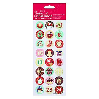 Papermania Foil Stickers – Advent Christmas Numbers