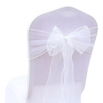 25pcs/set With 32 Colors Organza Chair Sashes For Event Ceremony Or Party