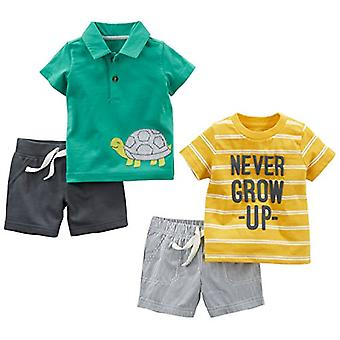 Semplice gioia di Carter's Baby Boys' 4-Piece Playwear Set, Yellow Stripe/Green ...