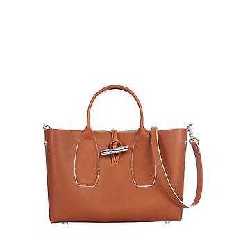 Longchamp 10058hqs504 Women's Brown Leather Shoulder Bag