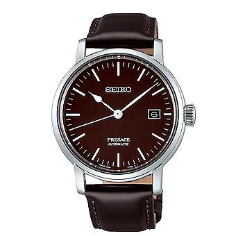 Seiko Watches Spb115j1 Presage Silver & Dark Brown Automatic Men's Watch