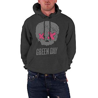 Green Day Mens Hoodie Grey American Idiot Skull band logo Official