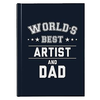 Verdens beste artist og pappa Hardback Journal