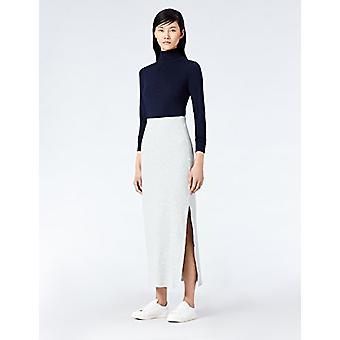 MERAKI Standard Women's Rib Maxi Skirt (Sivá melírovaná), EU XL (US 12-14)
