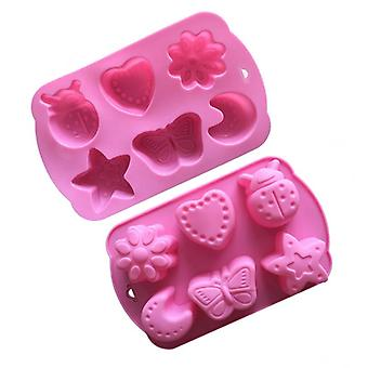 Cute Design Cat Feet Flower Moon Silicone Mold - Cake Chocolate Handmade Soap Making Mold
