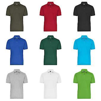 James ja Nicholson Miesten työ Organic Cotton Polo T-paita