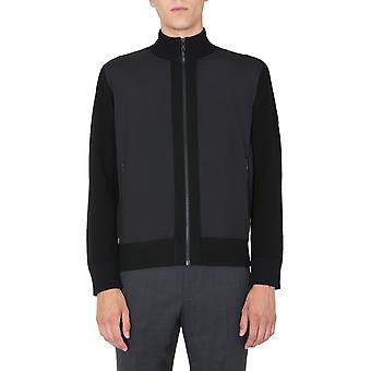 Z Zegna Vvp61zz157k09 Männer's schwarze Wolle Pullover