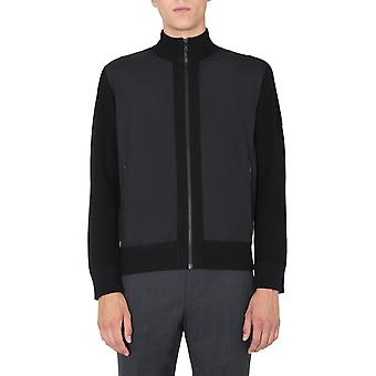 Z Zegna Vvp61zz157k09 Men's Black Wool Sweater