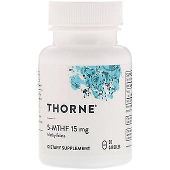 Thorne Research, 5-MTHF, 15 mg, 30 Cápsulas
