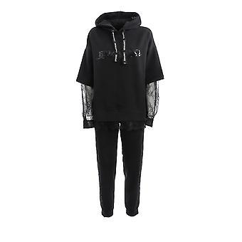 Ermanno Scervino Fl01fel99 Women's Black Cotton Jumpsuit