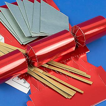 Single Red Foil Make & Fill Your Own DIY Christmas Cracker Craft Kit