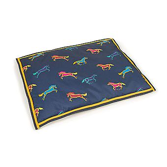 Shires Digby & Fox Waterproof Dog Bed - Horse Print